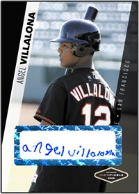 JFP06 Black Auto (#d to25) Angel Villalona