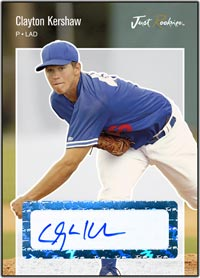 JRP06 White Auto (#'d to 200) Clayton Kershaw
